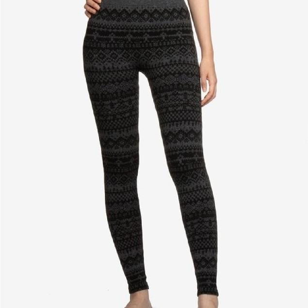 Hippie Rose Juniors' Fleece-Lined Leggings Charcoal Size Medium