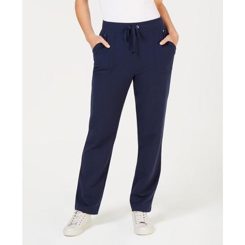 Karen Scott Women's  Drawstring Straight-Leg Pants Navy Size 2 Extra Largew