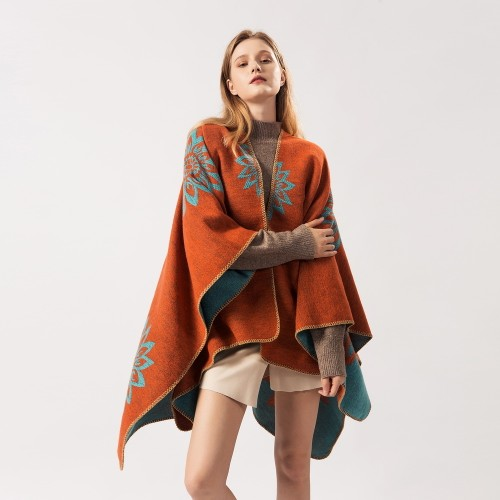 Ladies Scarf Shawl Dual-Use Double-Sided Cloak