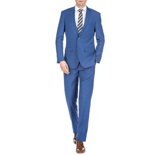 Gino Vitale Men's Traveler Check Slim Fit Suits