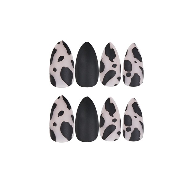 Black Leopard Print Nail Sticker Waterproof And Removable