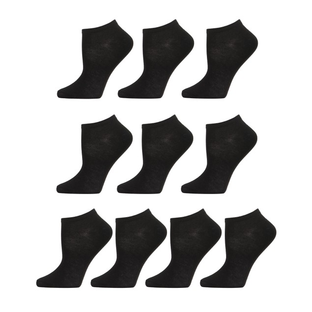 10-Pair Women's Casual No Show Low Cut Ankle Socks