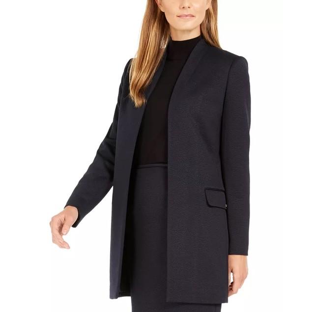 Calvin Klein Women's Textured Topper Navy Size 14