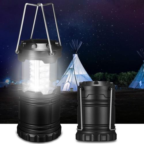Camping Lantern Portable Collapsible 30 LED Hiking Night Light Lamp Fl