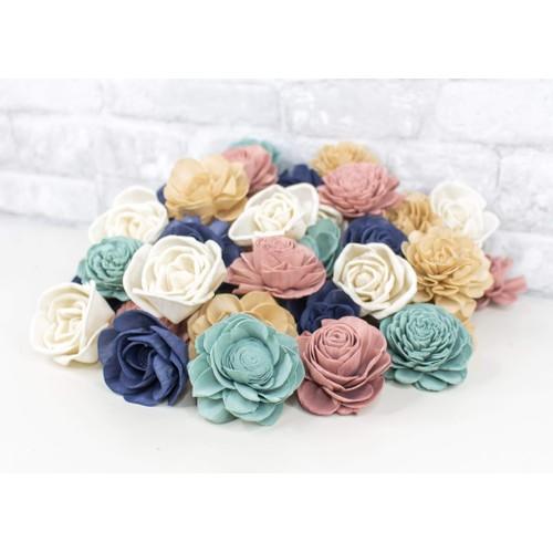 Sola Wood Flowers Darling Denim Assortment 25/50 Pack