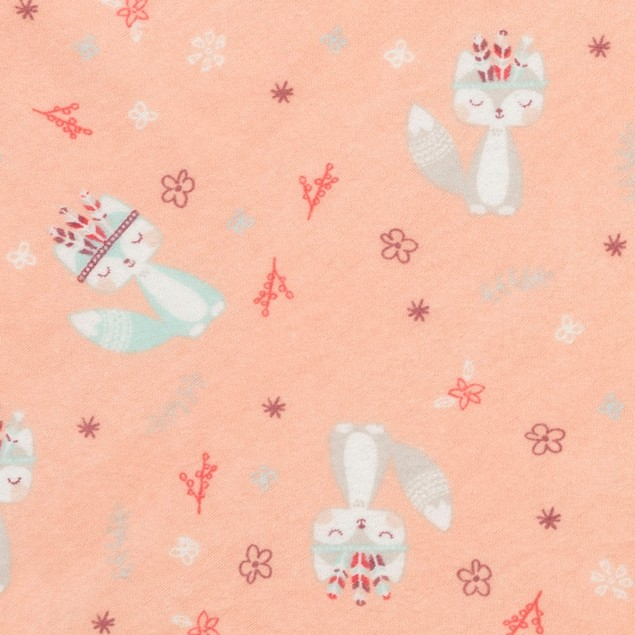 Trend Lab Fox and Flowers Jumbo Deluxe Flannel Swaddle Blanket