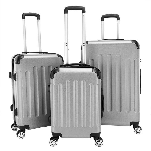 """3Pcs Luggage Set PC+ABS Trolley Spinner 20""""/24""""/28"""" Suitcase Hard Shel"""