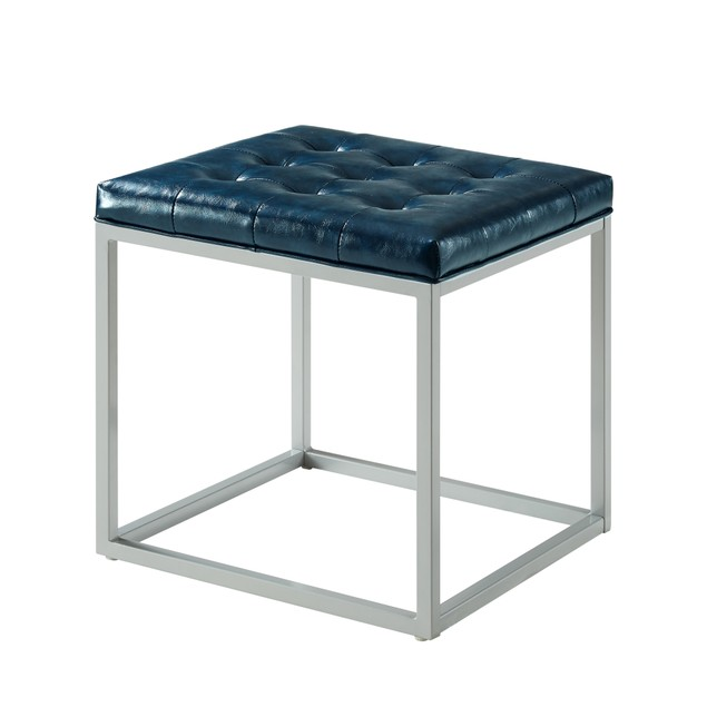 Cube Ottoman -Leather|Metal Frame|Multi-Functional|Inspired Home