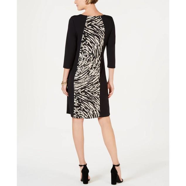 JM Collection Women's Triple Keyhole Sheath Dress Beigekhaki Size Large