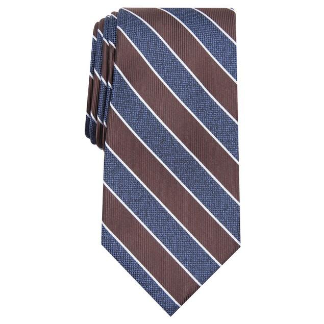 Club Room Men's Classic Stripe Tie Blue Size Regular