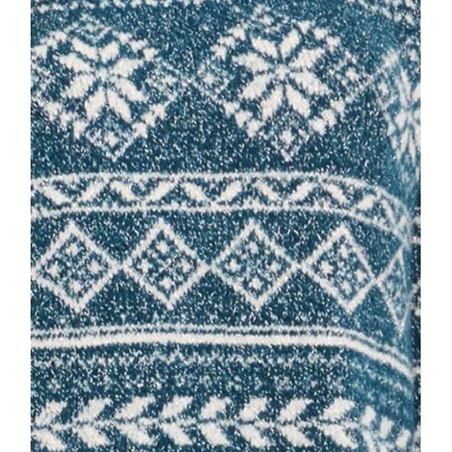 Style & Co Women's Fair Isle Tunic Sweater Blue Size Large