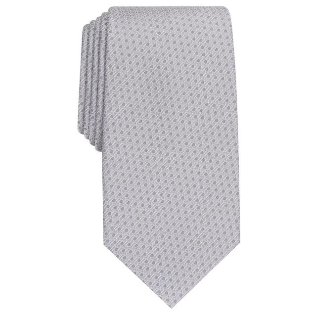 Perry Ellis Men's Starlite Neat Tie Silver Size Regular