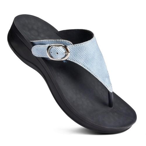 AEROTHOTIC Mosaic Women's Comfortable Orthotic Platform Sandal