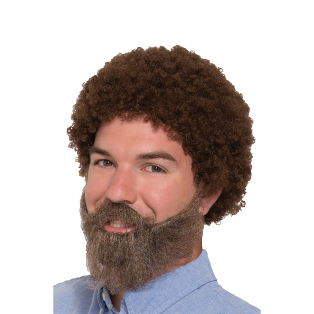 Bob Ross Wig and Beard with Moustache