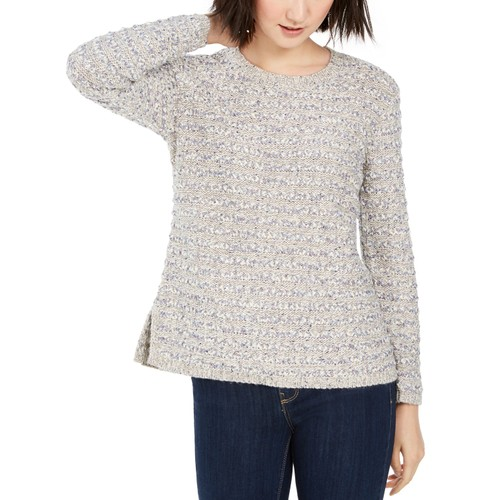 Style & Co Women's Striped Sweater Gray Size Extra Small