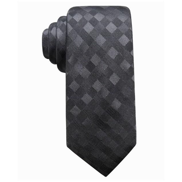 Ryan Seacrest Distinction Men's San Leo Silk Tie  Charcoal Size Regular