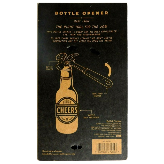 Bell & Curfew Hammer Bottle Opener, The Right Tool for The Job, Black