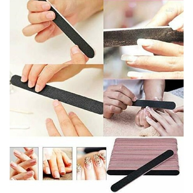 10 Pcs Double-sided Nail Sanding File Tips Manicure Pedicure Tool