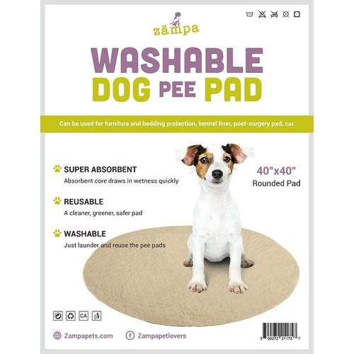 Zampa Pets quality Whelp Shape Reusable dog Pee Pads(40 Round)