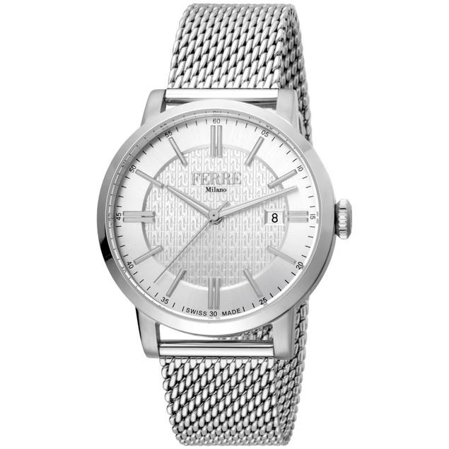 Ferre Milano Men's Classic Silver Dial Watch - FM1G156M0041