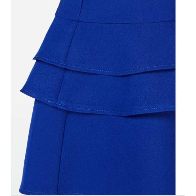 Teeze Me Junior's Triple Ruffle Skater Dress Blue Size 1