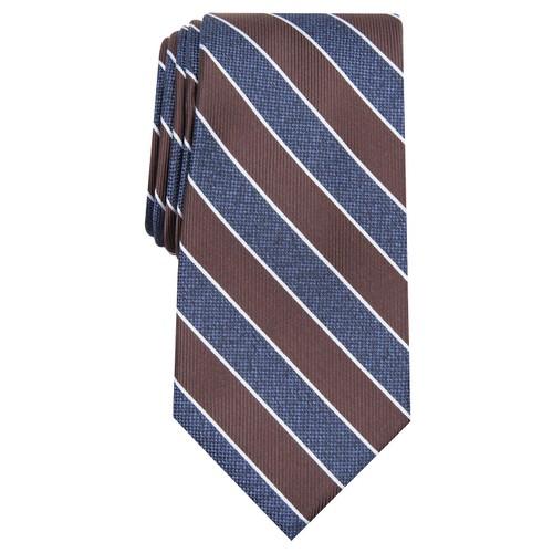 Club Room Men's Classic Stripe Tie Gray Size Regular