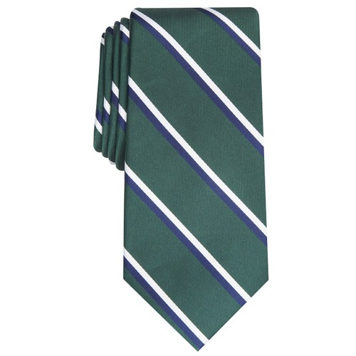Club Room Men's Classic Stripe Tie Green Size Regular