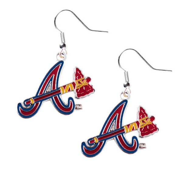 Atlanta Braves Dangle Logo Earring Set Charm Gift MLB