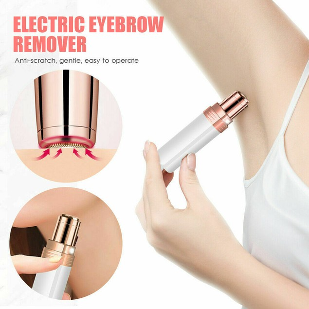 Electric Trimmer Facial Hair Remover Painless Razor for Upper Lip Eyebrow