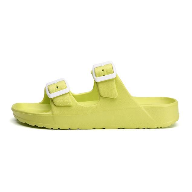 Women's Comfort Slides Double Buckle Adjustable EVA Flat Sandals