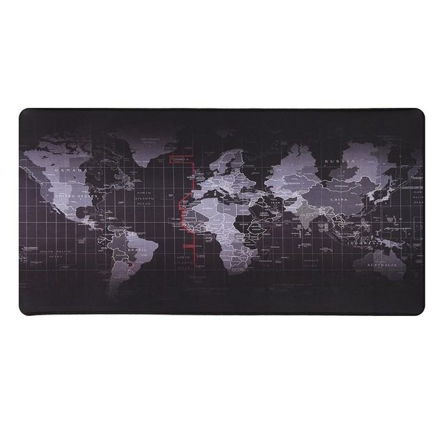 Gaming and Office World Map Mousepad