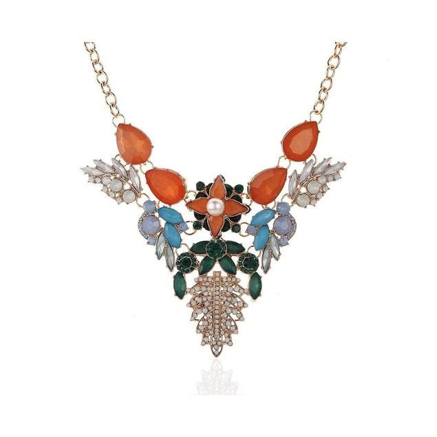 Novadab Bee Rhinestone Fashion Costume Women Necklace,