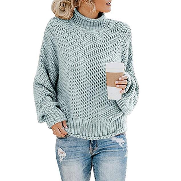 Women's Thick Thread Turtleneck Pullover
