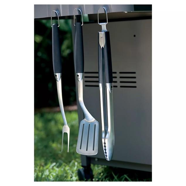 Weber Original Stainless Steel Barbeque Tool Set, 3 piece, Black