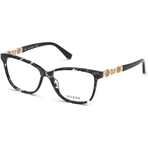 Guess Womens Eyeglasses GU2832V 005 Black 52 14 140 Frames Cat Eye