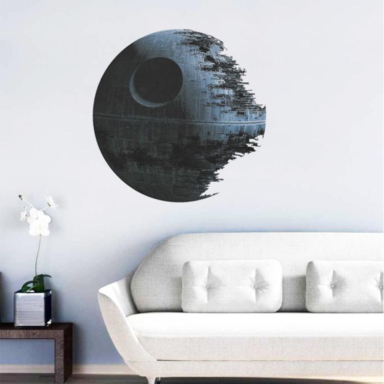 Death Star Artwork Star Wars Home Decor Wall Sticker Wallpaper Wall