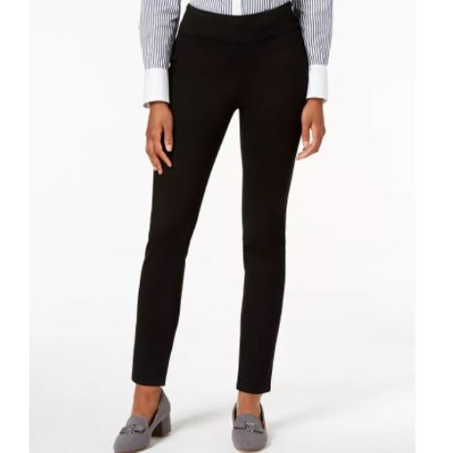Charter Club Women's Petite Pull On Slim Leg Jeans Black Size 1