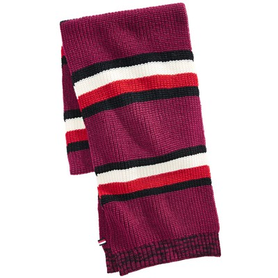 Tommy Hilfiger Men's Back Bay Cardigan-Knit Striped Marled Scarf One Size