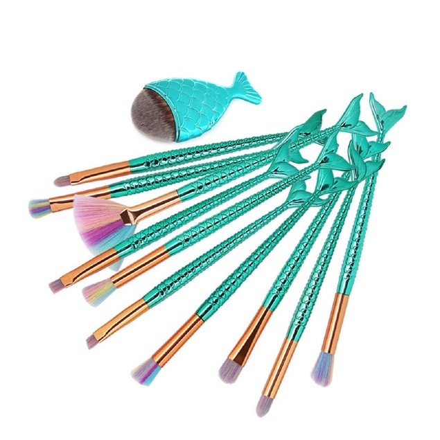11-Piece Mermaid Makeup Brush Set