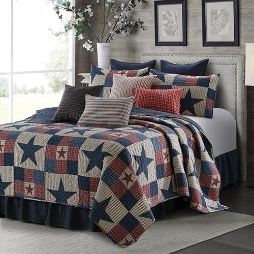 Spura Home 3-Piece Bedspread Mountain Cabin Gray Quilt Set