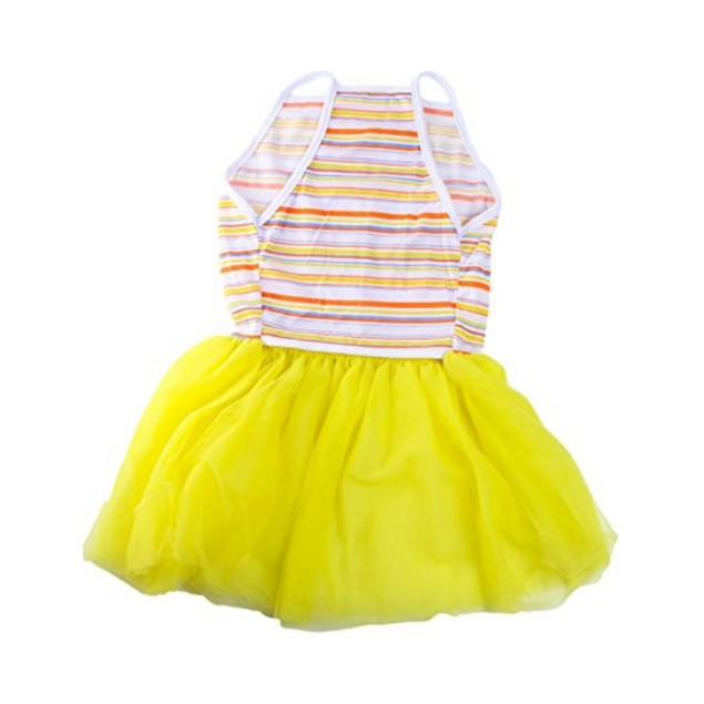 Midlee Colorful Stripe Tutu Large Dog Dress