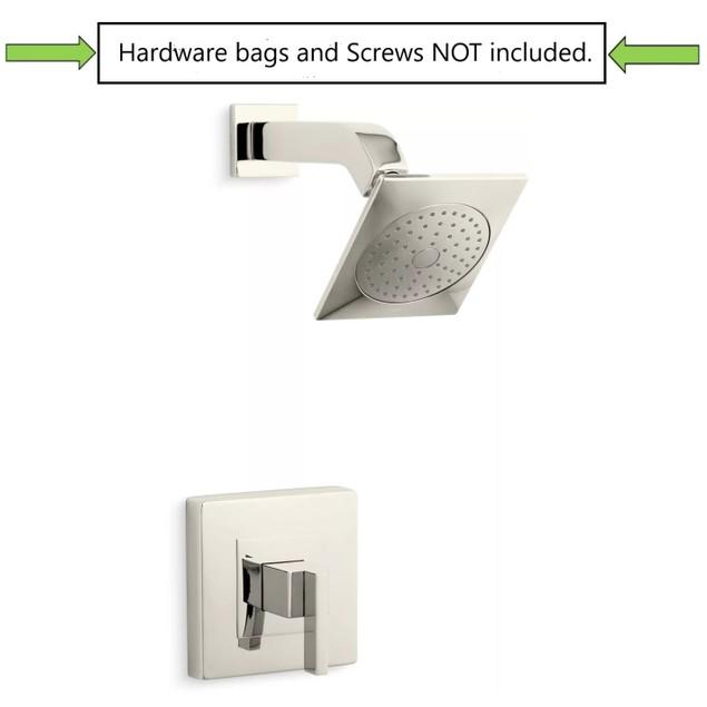 "Kohler Loure 1-Spray 6.3"" Single Wall Mount Fixed Shower Head, Polished"