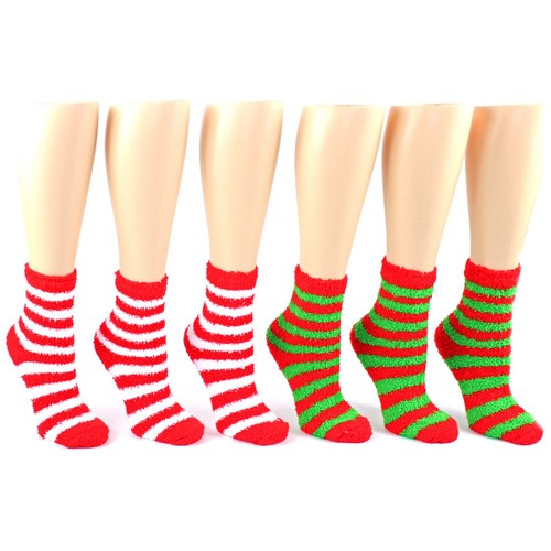 3-Pairs of Fuzzy Holiday Socks