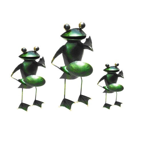D-Art collection Home Accent Iron Frog Candle Holder set of 3 Pieces