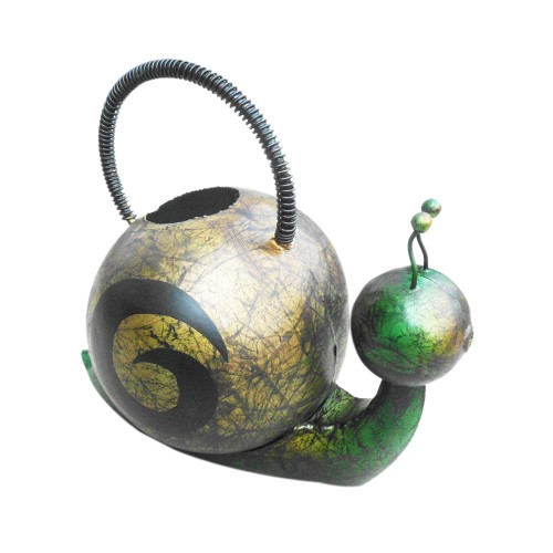 D-Art collection Home Accent Iron Snail Watering Can