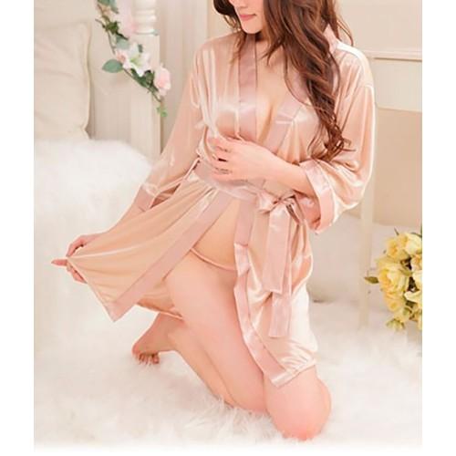 Women's Silky Feel Bath Robe