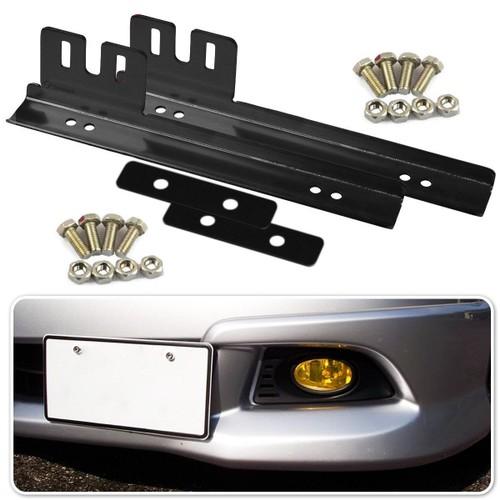 Zone Tech 2x Aluminum Bumper Front License Plate Mount Relocater Bracket