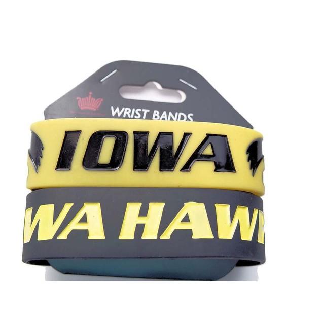 Iowa Hawkeyes Rubber Wrist Band (Set of 2) NCAA