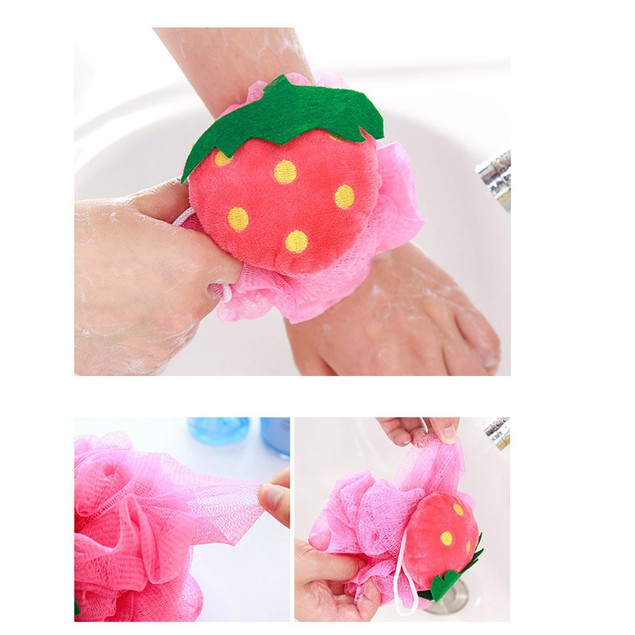 Multicolor Supper Soft Bath Ball Body Brush Wash Flower Cleaning