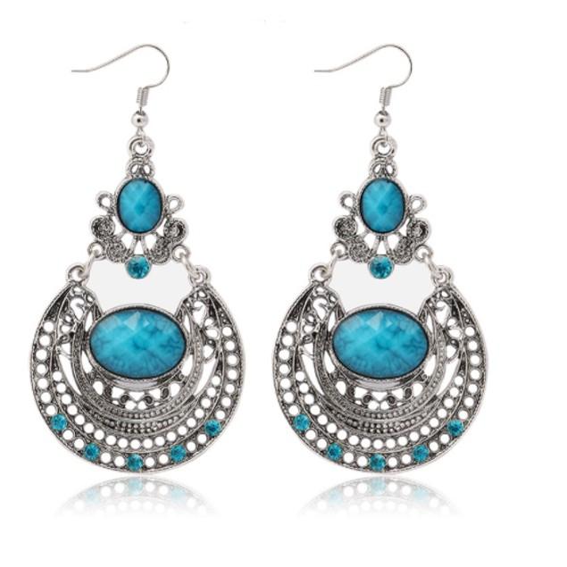 Novadab Boho Vibes Aqua Stone Dangle Women Earrings
